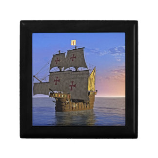 Medieval Carrack at Twilight Gift Box