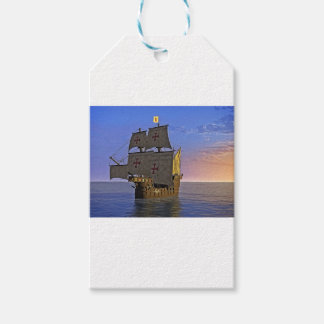 Medieval Carrack at Twilight Gift Tags