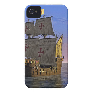 Medieval Carrack at Twilight iPhone 4 Cases