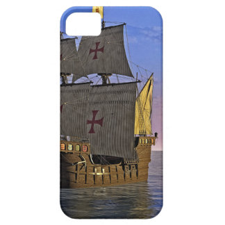 Medieval Carrack at Twilight iPhone 5 Case