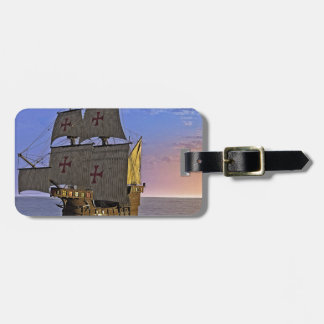 Medieval Carrack at Twilight Luggage Tag