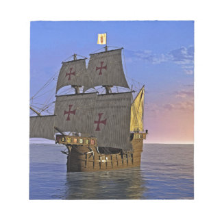 Medieval Carrack at Twilight Notepad