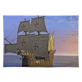 Medieval Carrack at Twilight Placemat