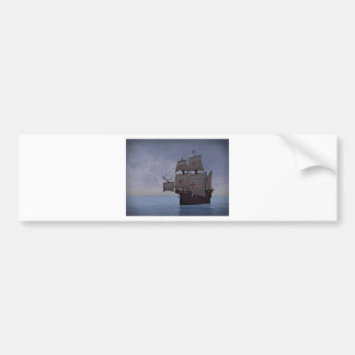 Medieval Carrack Becalmed Bumper Sticker