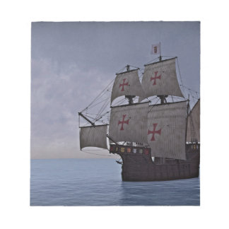 Medieval Carrack Becalmed Notepad