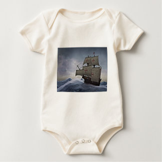 Medieval Carrack in the Storm Baby Bodysuit