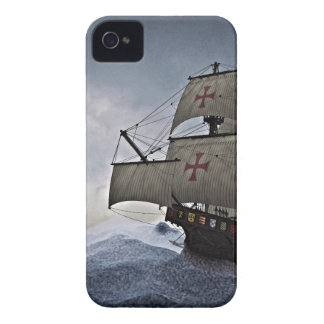 Medieval Carrack in the Storm iPhone 4 Case-Mate Cases