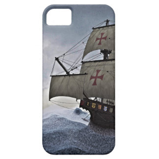 Medieval Carrack in the Storm iPhone 5 Case