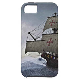 Medieval Carrack in the Storm iPhone 5 Covers