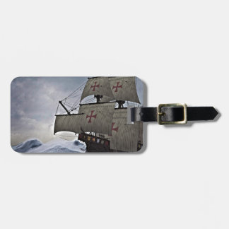 Medieval Carrack in the Storm Luggage Tag
