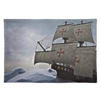 Medieval Carrack in the Storm Placemat