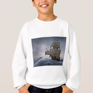 Medieval Carrack in the Storm Sweatshirt
