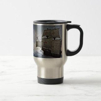 Medieval Carrack in the Storm Travel Mug
