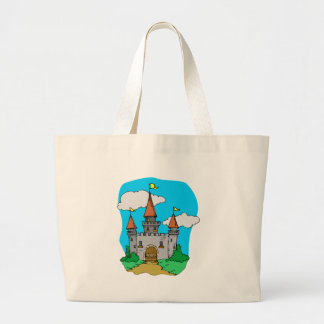 Medieval Castle Large Tote Bag