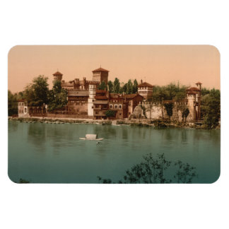 Medieval Castle  Market Town, Turin, Italy Magnet