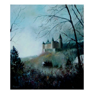 medieval castle of Veves Belgium Poster