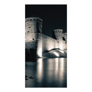 Medieval castle photo greeting card