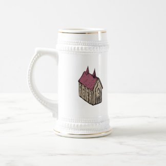 Medieval Church Drawing Beer Stein