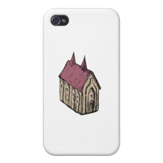 Medieval Church Drawing iPhone 4 Case