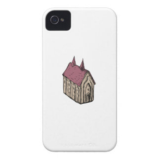 Medieval Church Drawing iPhone 4 Case-Mate Case