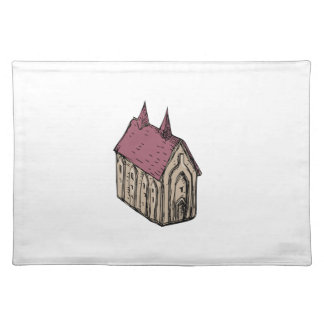 Medieval Church Drawing Placemat