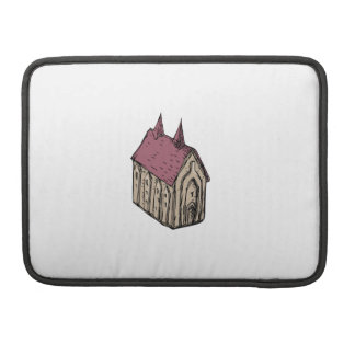 Medieval Church Drawing Sleeve For MacBook Pro