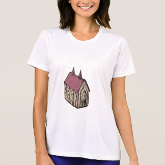 Medieval Church Drawing T-Shirt