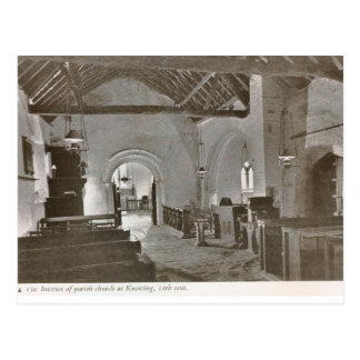 Medieval church, Knotting Postcard