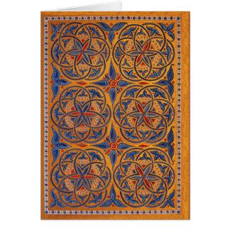 Medieval circles card