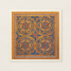 Medieval circles paper napkin