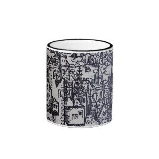 Medieval City Ringer Mug