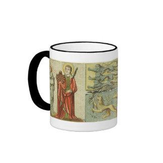 Medieval Coat of Arms Flag Ringer Coffee Mug