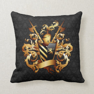 Medieval Coat of Arms Throw Pillow