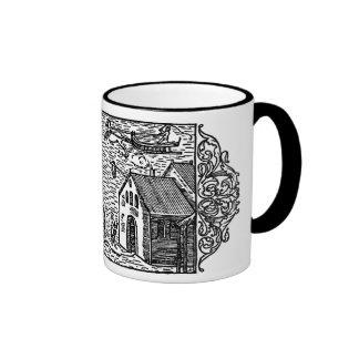Medieval Coffee Mug - Olaus Magnus Woodcut, 1555