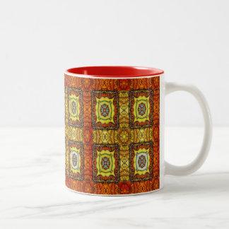 Medieval Cross Two-Tone Coffee Mug