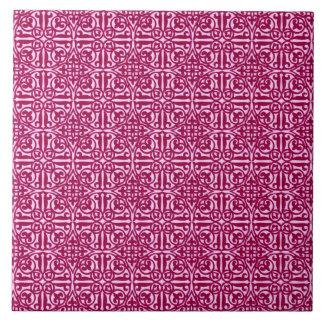Medieval Damask Fleur-de-lis, burgundy wine Ceramic Tiles