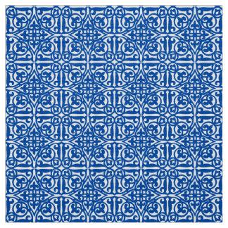 Medieval Damask Fleur-de-lis, cobalt blue Fabric