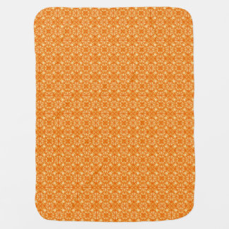 Medieval Damask pattern, mandarin orange Baby Blankets