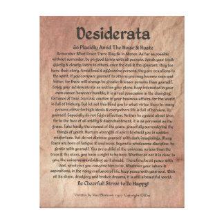 Medieval DESIDERATA Poster Max Ehrmann-Mars Stone Canvas Print