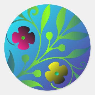 Medieval Design Floral Sticker