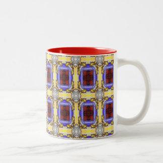 Medieval Design Two-Tone Coffee Mug