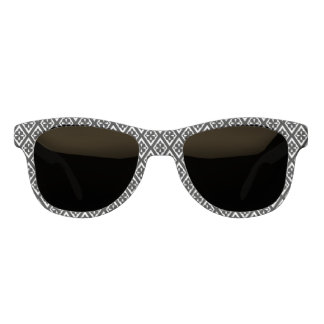 Medieval diamonds - black and white sunglasses
