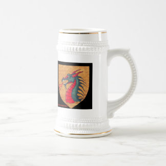 Medieval Dragon Shield Beer Stein