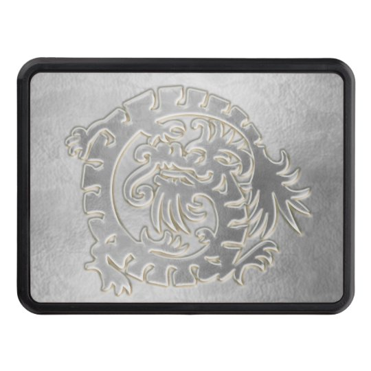 Medieval Dragon - Silver - Trailer Hitch Hitch Cover