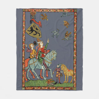 Medieval duck hunting with falcons? Fleece Blanket