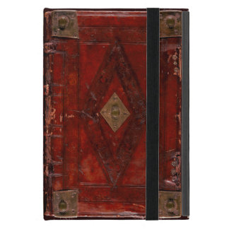 Medieval Engraved Red Leather Book Cover Design