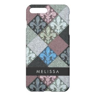 Medieval Fleur de Lys Stone Texture Pattern iPhone 8 Plus/7 Plus Case