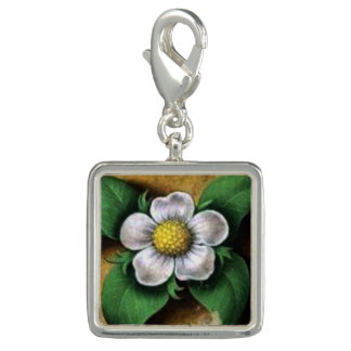 Medieval Flora Square Strawberry flower charm