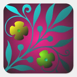 Medieval Floral Design Sticker