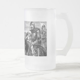 medieval frosted glass beer mug